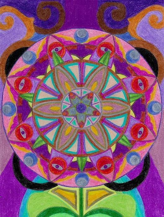 Flower Drawing - Bertas Birthday Flower by Aileen Heymach