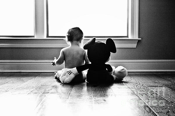 Child Photograph - Best Buds by Scott Pellegrin