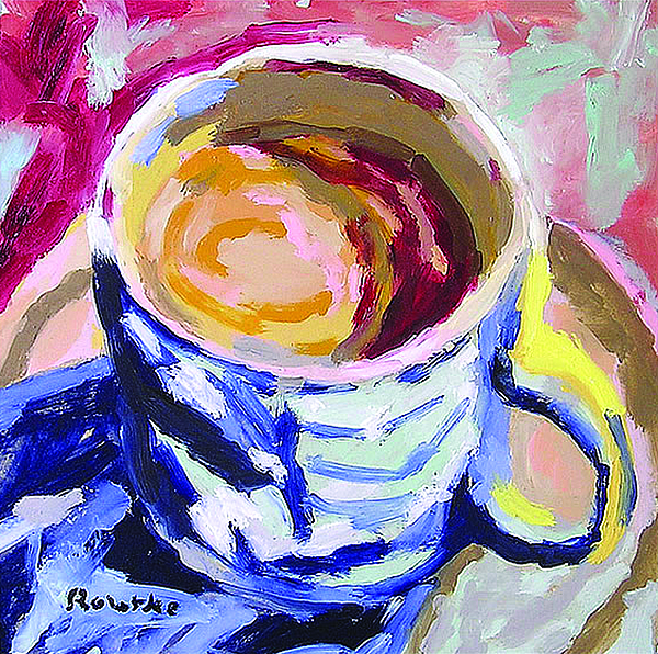 Fauvism Painting - Best Cup Of Joe by Nancy Rourke