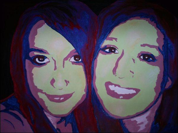 Friendship Painting - Best Friends Always by Michelle Williams