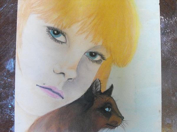 Portrate Pastel - Best Friends by Wanda Alberta
