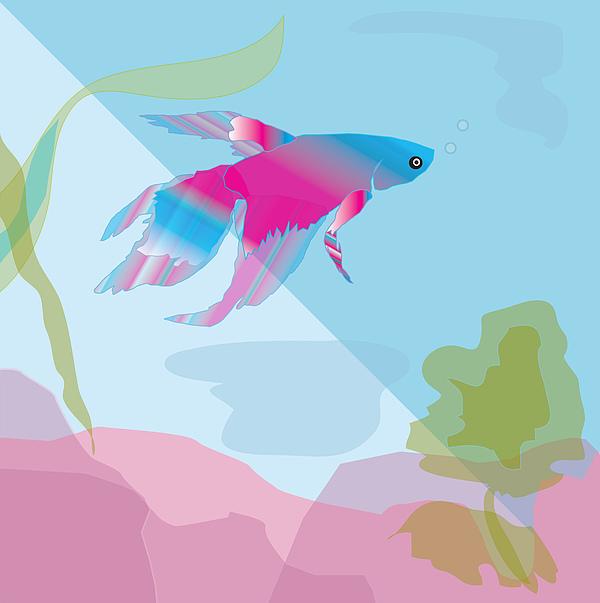 Fish Digital Art - Beta by Susan Nelson