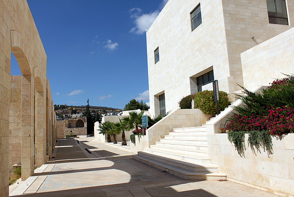 Photographs Photograph - Bethlehem - Convention Palace South Entrance by Munir Alawi