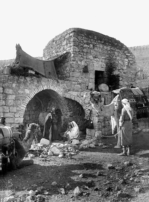 Nativity Photograph - Bethlehem - Nativity Scene Year 1900 by Munir Alawi