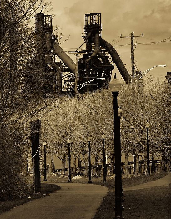 Landscape Photograph - Bethlehem Steel Mill by Luis Lugo