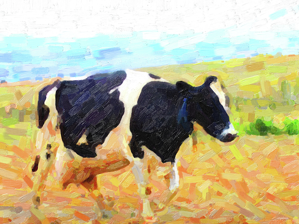 Cow Photograph - Betsy The Milk Cow Coming Home by Wingsdomain Art and Photography