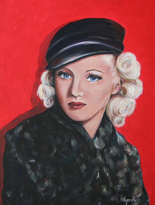 Portraits Painting - Betty Grable by Dyanne Parker