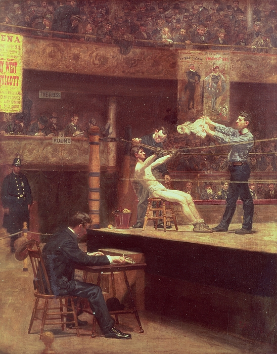 Boxing Painting - Between Rounds by Thomas Cowperthwait Eakins