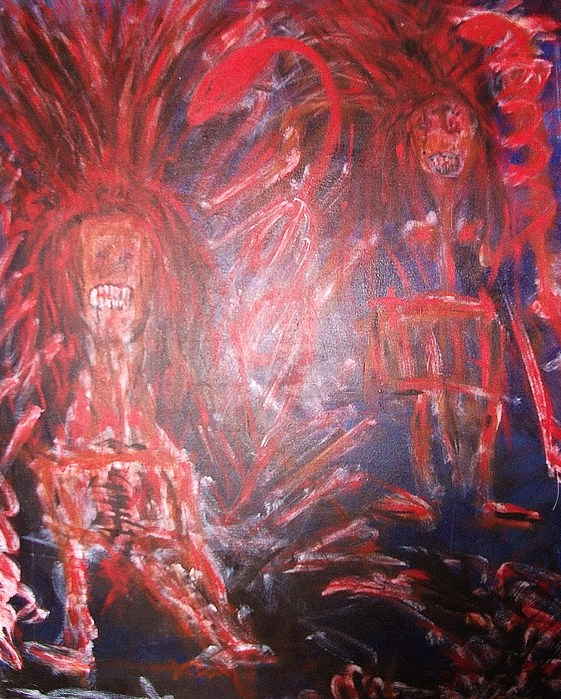 Vampire Painting - Beware by Randall Ciotti