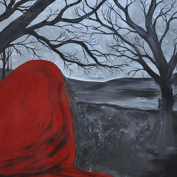 Red Riding Hood Painting - Beware by Tree Girly