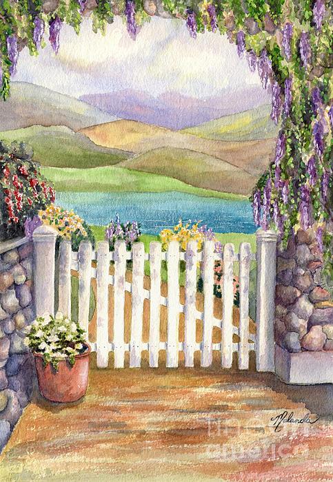 Beyond The Garden Gate Painting By Malanda Warner