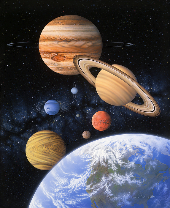 Lynette Cook Painting - Beyond The Home Planet by Lynette Cook