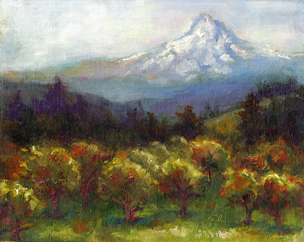 Mt Painting - Beyond The Orchards by Talya Johnson
