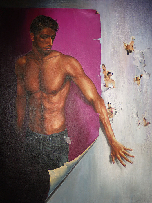 Man Painting - Beyond The Poster  by Tapash Sarkar