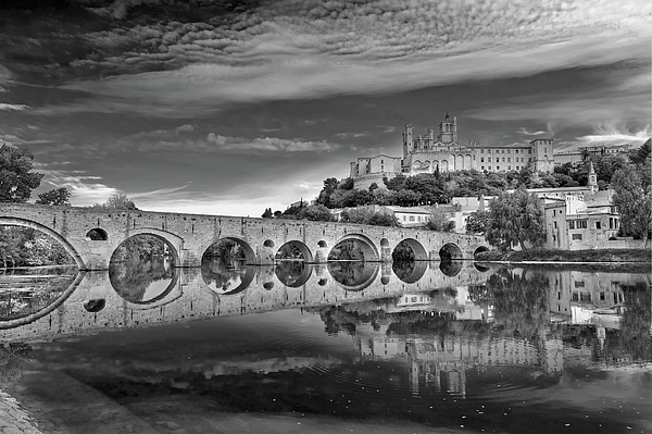 Horizontal Photograph - Beziers Cathedral by Photograph by Paul Atkinson