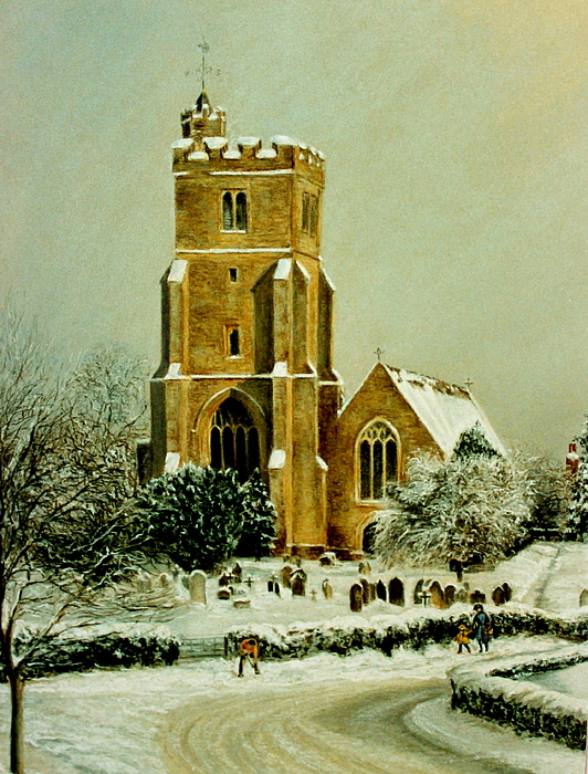 Painting Painting - Biddenden Church by Rosemary Colyer