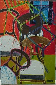 Paintings Painting - Biedermeier Chairs by Marilena Pilla
