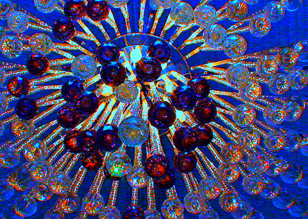 Holiday Photograph - Big Apple Chandelier by Angela Annas