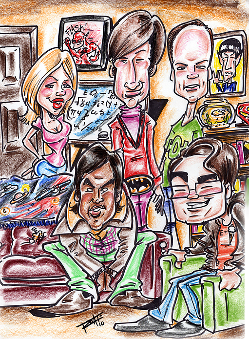 Big Bang Theory Drawing - Big Bang Theory by Big Mike Roate