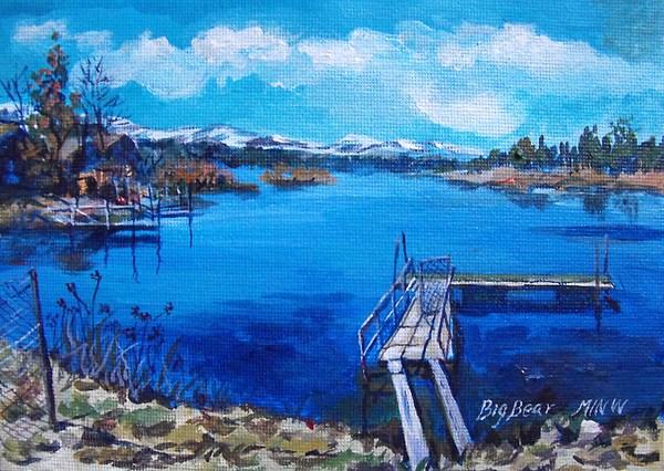 Big Bear Lake Painting - Big Bear Lake 1 by Min Wang