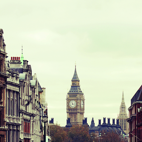 Square Photograph - Big Ben As Seen From Trafalgar Square, London by Image - Natasha Maiolo
