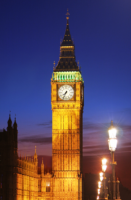 Big Photograph - Big Ben At Night by Dan Breckwoldt