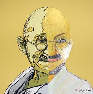 Gandhi Painting - Big Brother by Sardine and Tobleroni The Monkey in the Box