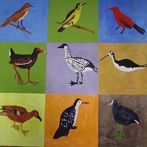 Children Painting - Big Island Endangered Birds by Patrice Tullai