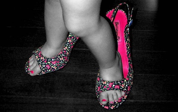 Child Photograph - Big Shoes To Fill by Amanda  Sanford