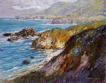 Big Sur Painting - Big Sur Light by Donald Neff