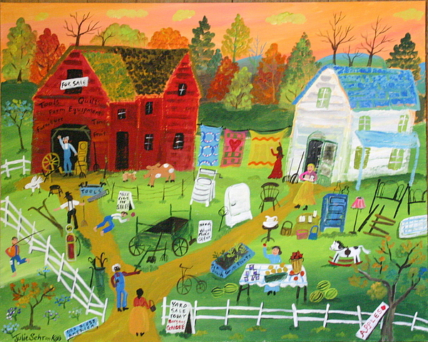 Big Yard Sale Painting by Julie Schronk