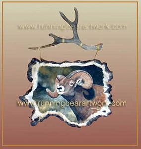 Bighorn Ram Painting by Michael Meissner