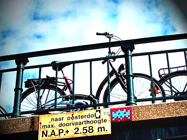 Bicycle Photograph - Bike On A Bridge by Elena Guilbeau