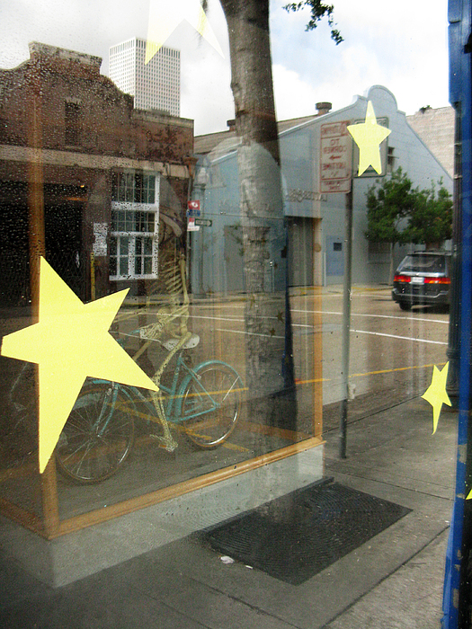 Window Photograph - Bike by Tom Hefko