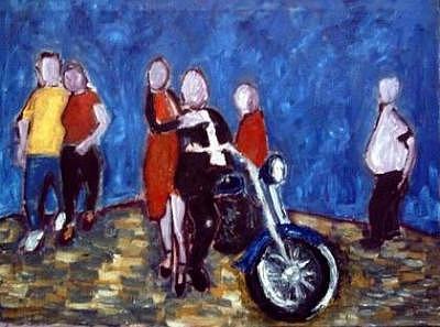 Biker Day Painting by Dragan Katanic
