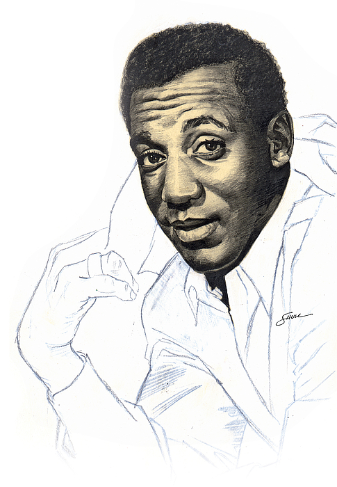 Portrait Drawing - Bill Cosby by Harold Shull