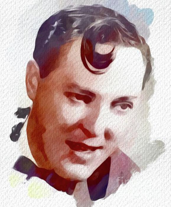 Bill Painting - Bill Haley, Music Legend by Mary Bassett