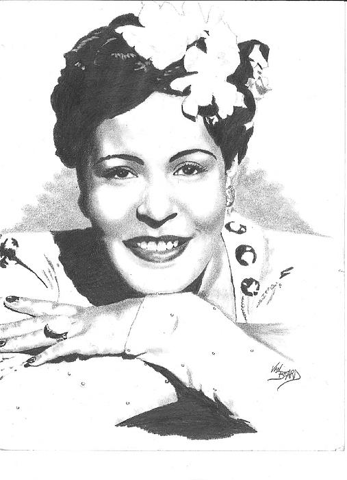 Drawing Drawing - Billie Holiday by Van Beard
