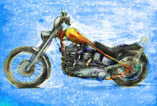 Easy Rider Mixed Media - Billys Bike by Russell Pierce