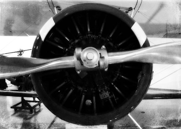 Airplane Photograph - Biplane Propeller by Matt Hanson