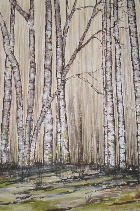 Trees Painting - Birch Field by Marcia Crispino