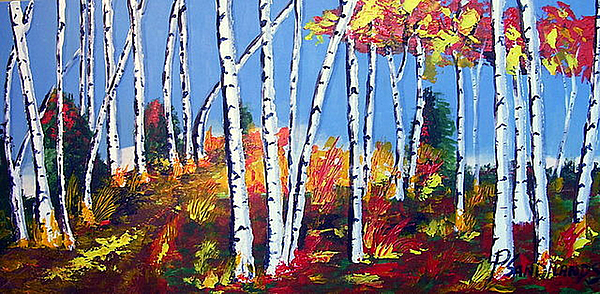 Birches Painting - Birches by Paul Sandilands