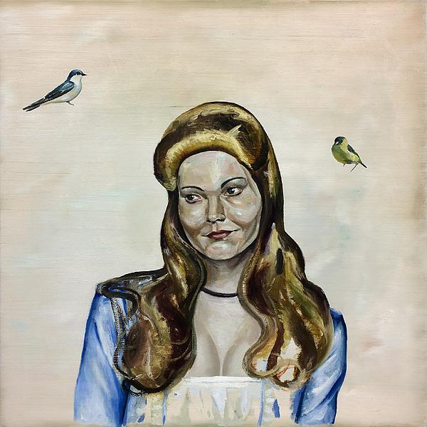Portrait Painting - Bird Queen by Thomas Edetun