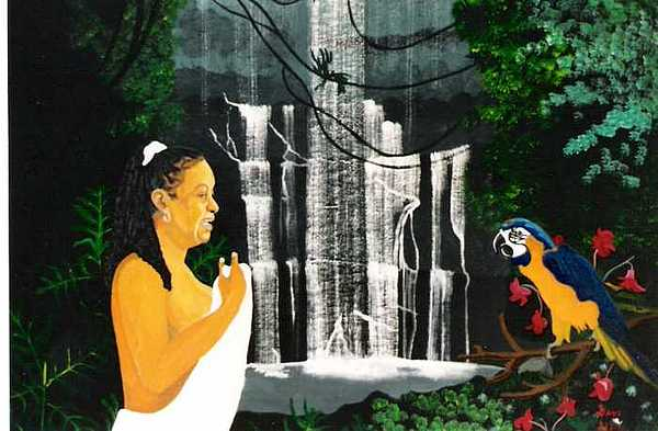 Birda Bea And Parrot Painting by David Ellis