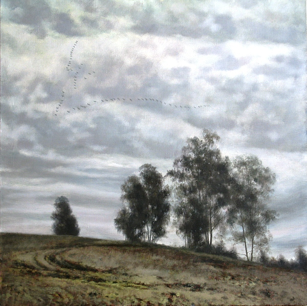 Landscape Painting - Birds Fly Away by Andrey Soldatenko