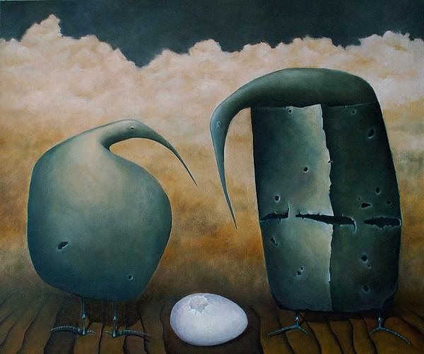 Birds Painting by Magda Guzinska