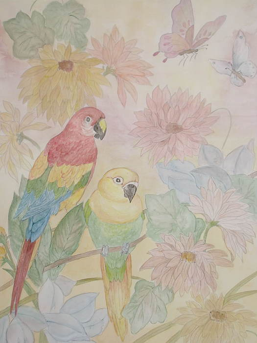 Parrots Painting - Birds Of Paradise by Patti Lennox