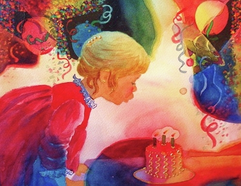 Birthday Party Painting - Birthday Party by Marilyn Jacobson