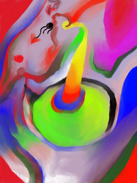 Colorful Digital Art - Birthday Surprise by Peter Shor