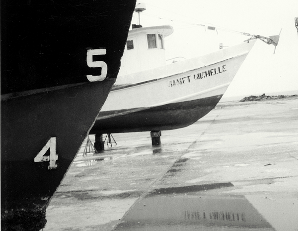 Black And White Boat Reflection Photograph by Cindy New